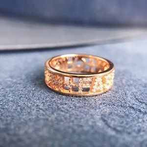 ☠APM Monaco 'CHIC FUN FASHION' Ring -Pink Silver
